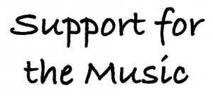 Support for the music